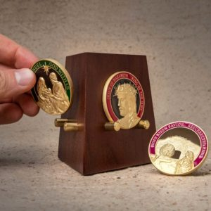 christ coin set w stand