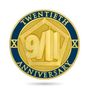 20th anniversary 9/11 lapel pin